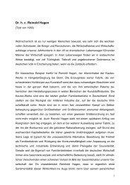 Biografie von Reinold Hagen - Dr. Reinold Hagen Stiftung