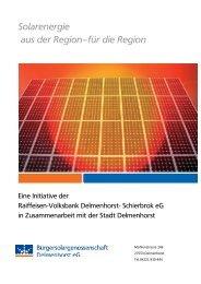 Beteiligungsbroschüre - Volksbank eG Delmenhorst Schierbrok