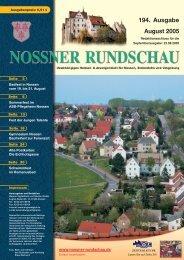 194. Ausgabe August 2005 - Nossner Rundschau