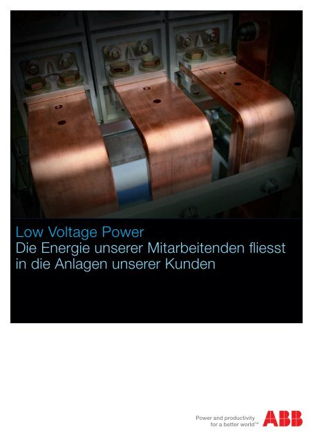 Low Voltage Power Die Energie unserer Mitarbeitenden fliesst in die ...