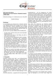 Vortrag Frau Dr Schleinzer - Citykloster Bielefeld