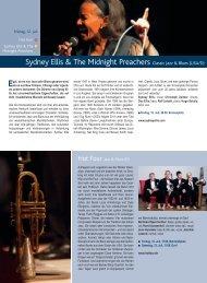 Infos zu den Konzerten 2013 (pdf) - Jazz Tage Lenk