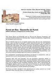 Kunst am Bau - Bauwerke als Kunst - Christian Reder