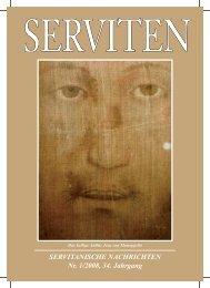 SERVITANISCHE NACHRICHTEN Nr. 1/2008, 34. Jahrgang