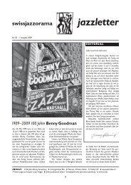 Jazzletter Nr. 20 - SwissJazzOrama