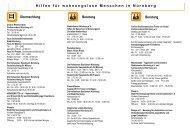 Hilfen für wohnungslose Menschen in Nürnberg