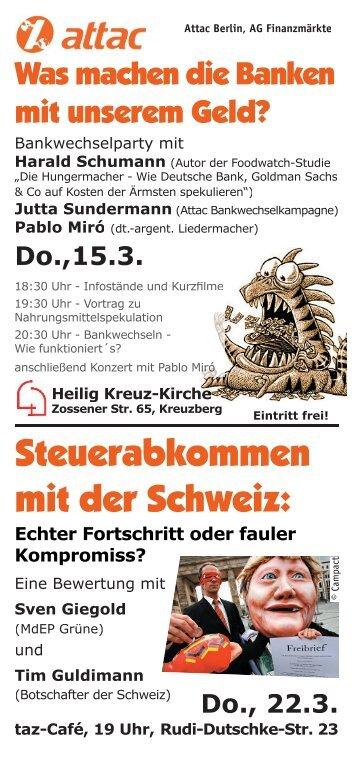 Do., 22.3. - Attac Berlin