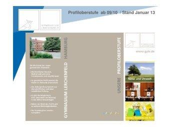 Profiloberstufe ab 09/10 / Stand Januar 13 - Gymnasium Lerchenfeld