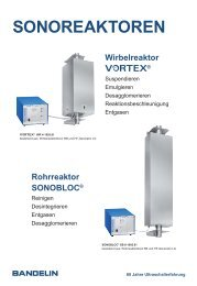 Rohrreaktor SONOBLOC - Bandelin electronic