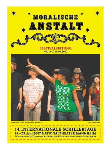 FESTIVALZEITUNG - 17. Internationale Schillertage