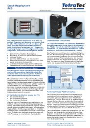 Datenblatt PCS - TetraTec Instruments GmbH
