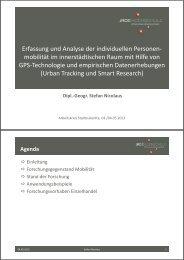 Erfassung und Analyse der individuellen Personenmobilität im ...