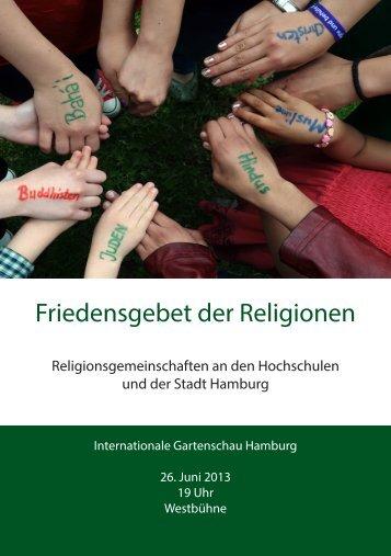 Friedensgebet der Religionen - Katholische Hochschulgemeinde ...