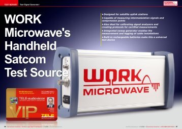WORK Microwave's Handheld Satcom Test Source