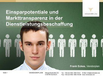 Vendorplan auf dem BME Symposium 2012 in Berlin