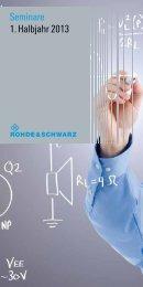 Seminare 1. Halbjahr 2013 - Rohde & Schwarz