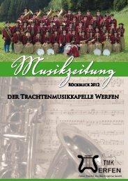 Musikzeitung der Trachtenmusikkapelle Werfen