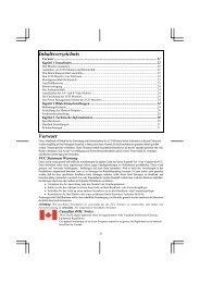 Inhaltsverzeichnis Vorwort - Instructions Manuals