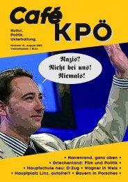 Café KPÖ - KPÖ Oberösterreich