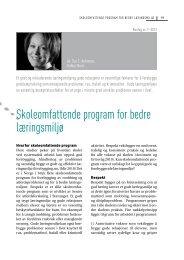 Skoleomfattende program for bedre læringsmiljø - Borgestadklinikken