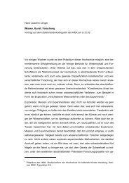 Hans-Joachim Lenger Wissen, Kunst: Forschung Vortrag auf dem ...