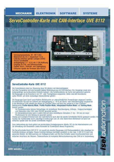 ServoController-Karte mit CAN-Interface UVE 8112