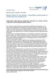 United Maps schließt - Bayern Kapital