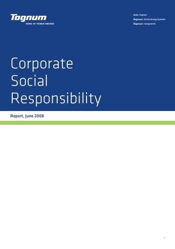 Corporate Social Responsibility Report (810 KB) - Tognum AG