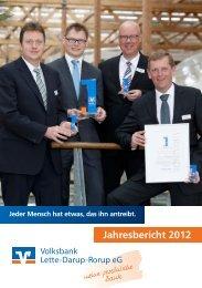 Geschäftsbericht 2012 - Volksbank Lette-Darup-Rorup eG