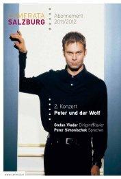 Abonnement 2011/2012 2. Konzert Peter und der Wolf - Camerata ...