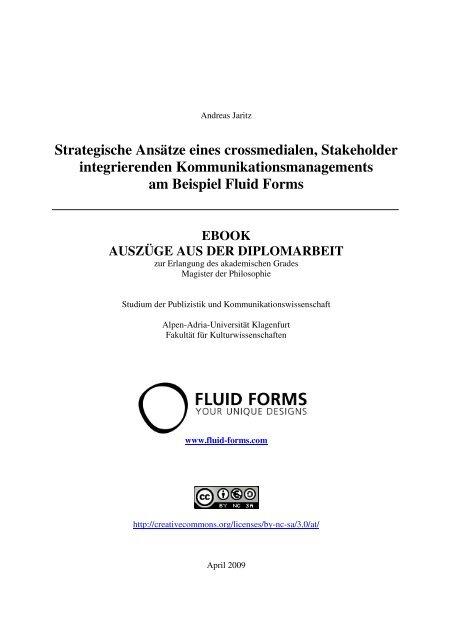 Strategische Ansätze eines crossmedialen, Stakeholder ...
