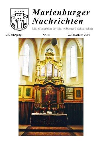 Marienburger Nachrichten - Marienburger Nachbarschaft in ...