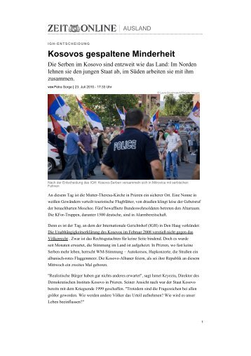 Kosovos gespaltene Minderheit - Jugend für Zukunft