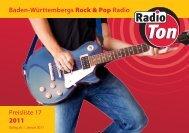 Baden-Württembergs Rock & Pop Radio Preisliste 17 ... - Radio Ton
