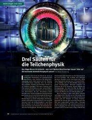 Drei Säulen für die Teilchenphysik - Schweizerischer Nationalfonds ...