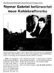 neue ~o.hlekraftwerke - Kontra-Kohle-Kraftwerk eV