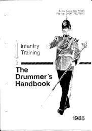 The Drummer's Handbook - Regimental Drum Major Association