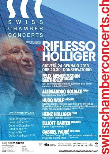 RIFLESSOHolliger - Conservatorio della Svizzera Italiana