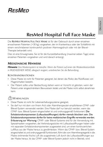 ResMed Hospital Full Face Maske