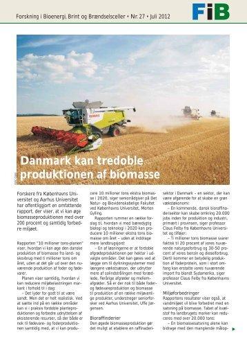 Danmark kan tredoble produktionen af biomasse - Biopress