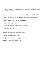 PDF (318 K) - National Bureau of Economic Research