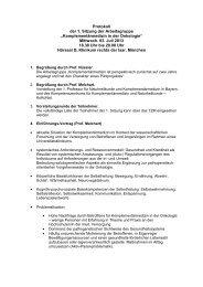 Protokoll der 1. Sitzung der Arbeitsgruppe - Tumorzentrum ...