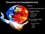 Ressourcen zur Energiegewinnung - Gymnasium-moelln.de