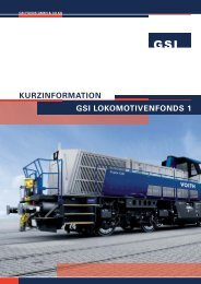 GSI LOKOMOTIVENFONDS 1 KURZINFORMATION - L und B Fonds ...