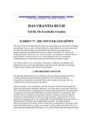 Das Urantia Buch - Schrift 77 - Die Mittler-Geschöpfe