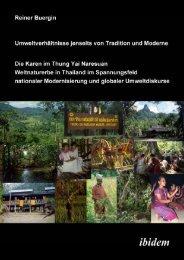 Dissertation Bürgin 2004 - SEFUT Working Group, Socio-Economics ...