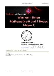 Zusammenfassung der neuen Eigenschaften in Mathematica 6 und 7