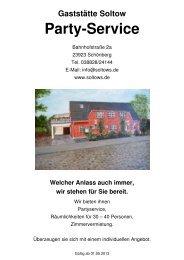 Download Preisliste Partyservice (PDF, 137 KB) - Soltows Gaststätte ...