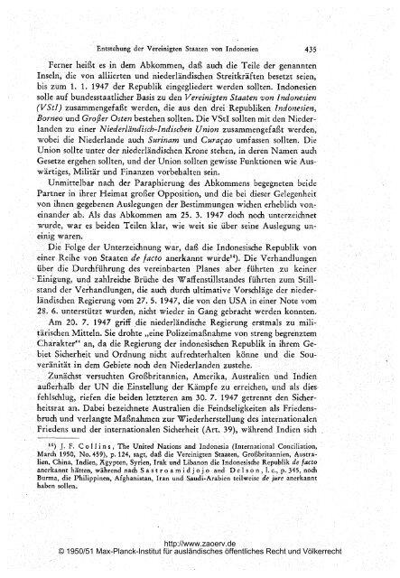 der Vereinigten Staaten von Indonesien - Zeitschrift für ...