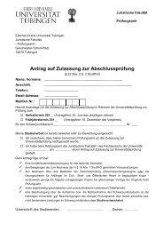 Antrag auf Zulassung zur Abschlussprüfung - Juristische Fakultät ...